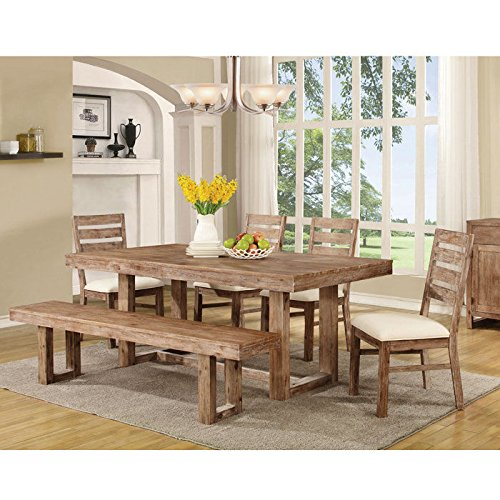 Dining table set rustic amazon coaster 105541 elmwood rustic 7775 x 39 x 30 inch u base dining table sxxofo