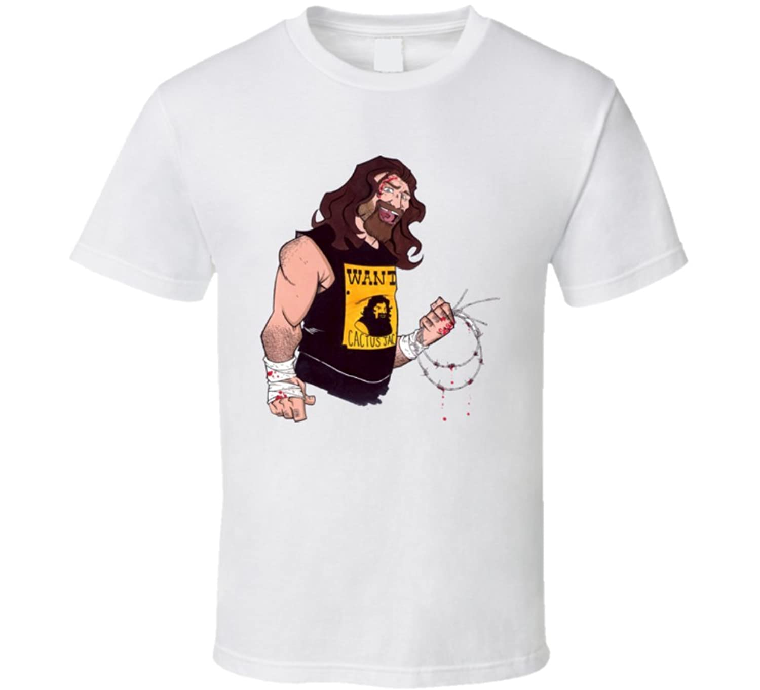 Cactus Jack Rick Foley Wrestler,Wanted Dead or Alive Cartoon T Shirt