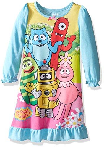 Yo Gabba Gabba Little Girls' Toddler Gown, Blue,