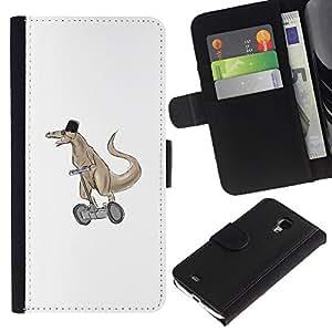 LECELL--Cuero de la tarjeta la carpeta del tirón Smartphone Slots Protección Holder For Samsung Galaxy S4 Mini i9190 -- Segway Raptor --