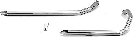 Paughco 13//4 Drag Pipes for Evolution Sportster 719-3-40 Exhaust 40 Slash 04-13XL