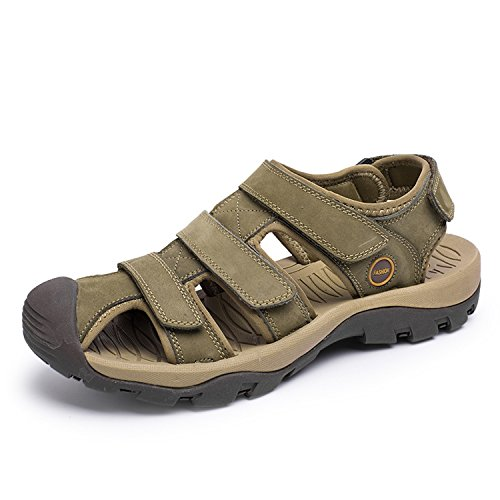 da Sandali pelle gomma antiscivolo maschili vera Green in e uomo NANXIE spiaggia traspiranti scarpe da sandali uomo sandali Pakamo in leggeri suole estivi morbidi scarpe da YEx5q