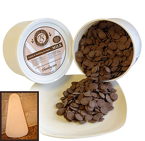 Chocoley Bada Bing Bada Boom Candy & Molding Milk Gourmet Compound Chocolate - 5 Lbs - 2 x 2.5 Pounds Tubs of Milk Chocolate Plus FREE BONUS: Mold Scraper