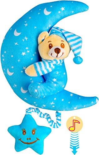 Musical Newborn Doll (O-KIKI Musical Teddy Bear Stuffed Animal (No batteries required!) (light blue))