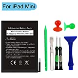 Replacement Battery for iPad Mini 1 with Complete Repair Tools Kit 0 Cycle 4440mAh Li-ion Replacement Battery[365 days Warranty]