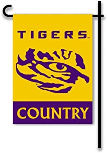 NCAA LSU Tigers 2-Sided Country Garden Flag, Team Color