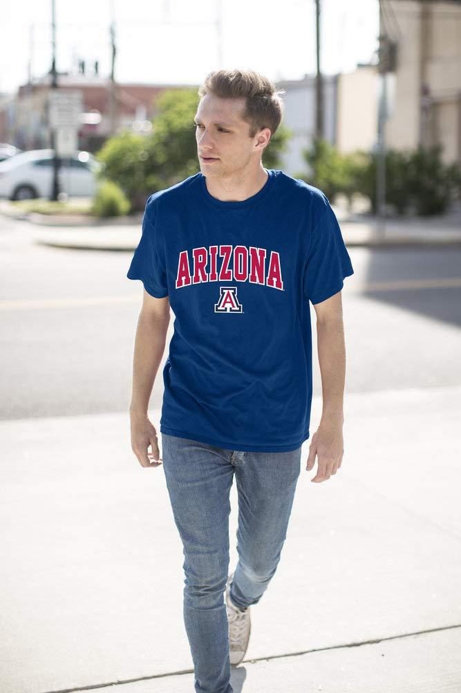 Elite Fan Shop NCAA Arizona Wildcats Mens NCAA T Shirt Team Color ArchNCAA T Shirt Team Color Arch, Navy, XX Large