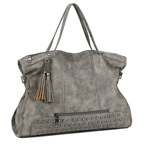 Zll Women's Vintage Handbag Shoulder Bag Female Bag Diagonal Bag Scrub Joker Gray