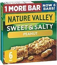 NATURE VALLEY Sweet & Salty Peanut Granola Bars, 6 C