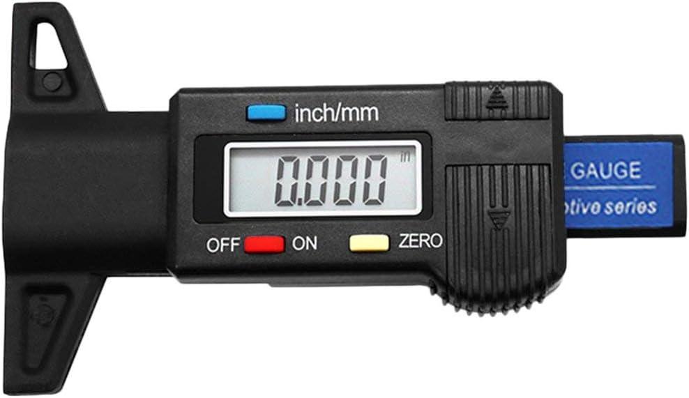 Num/érique De Voiture Pneu Profondeur Testeur 0-25mm De Pneu Profondeur Gauge M/ètre Outil De Mesure /Étrier LCD Affichage Pneu Mesure WEIWEITOE