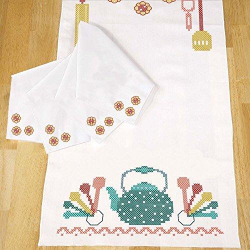 Herrschners® Retro Kitchen Table Runner & Napkins Stamped Cross-Stitch