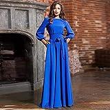 Women's Lantern Sleeve Long Dress Boho Vintage