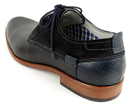 FRETZ men - Zapatos de cordones de Piel para hombre negro