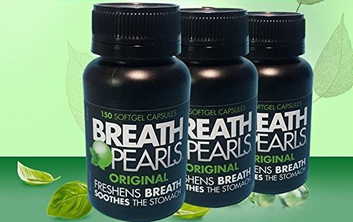 Breath Pearls Original Freshens Breath (150 softgels) New pack 150 counts x 2 Pack =(Total 300 Softgels) by Breath Pearls (Image #4)