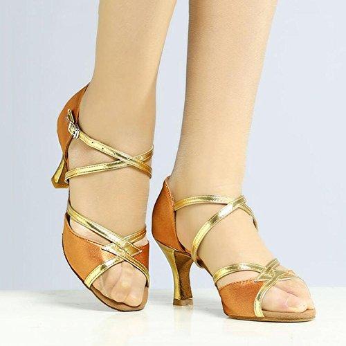 Women's Latin Shoes Sparkling Glitter Sandal Ballroom Shoes/Heel Performance/Professional Rhinestone/Sparkling Glitter Flared Heel B 1ljmke7HVv