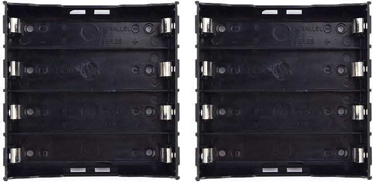 Zerone - Caja de plástico para Pilas de 1/2/3/4 18650, 3,7 V-14,8 V (2pcs): Amazon.es: Deportes y aire libre