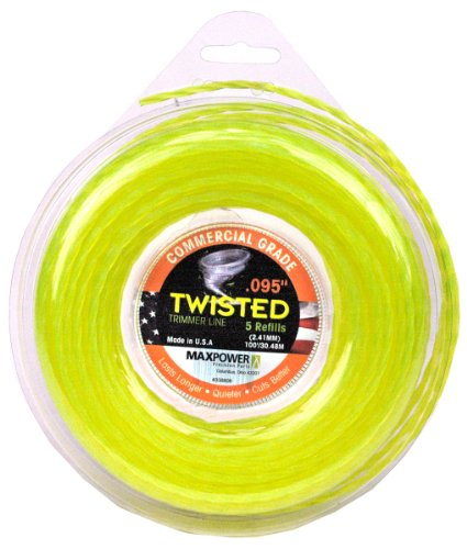 Maxpower 338808 Premium Twisted Trimmer Line .095-Inch Twisted Trimmer Line 100-Foot Length
