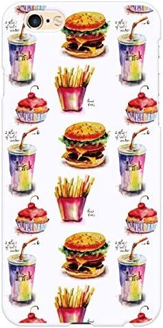Ruuu iPhone6Plus iPhone 6sPlus ハード スマートフォン スマホ ケース カバー 水彩 食べ物 たべもの ハンバーガー ポテト ジャンクフード パン ケーキ お菓子