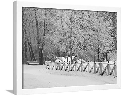 ArtEdge Winnipeg Manitoba, Canada Winter Scenes Keith Levit, White Framed Wall Art Print, 18x24 in (Manitoba Scenes Winter Winnipeg Canada)