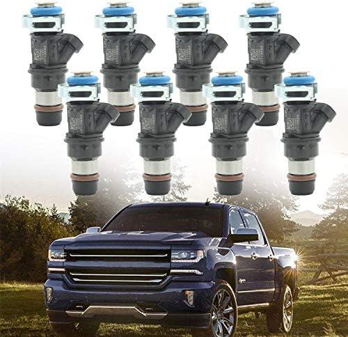 25317628 17113698 17113553 FJ315 FJ10062 Fuel Injectors for 2001-2007 Buick Cadillac Escalade Chevy Silverado Suburban GMC Yukon Hummer Isuzu 4.8L 5.3L 6.0L 8 pcs