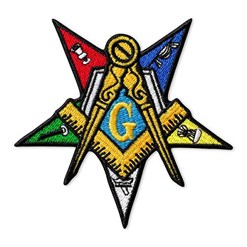 Masonic Order of The Eastern Star Embroidered Patch Iron On (3.7