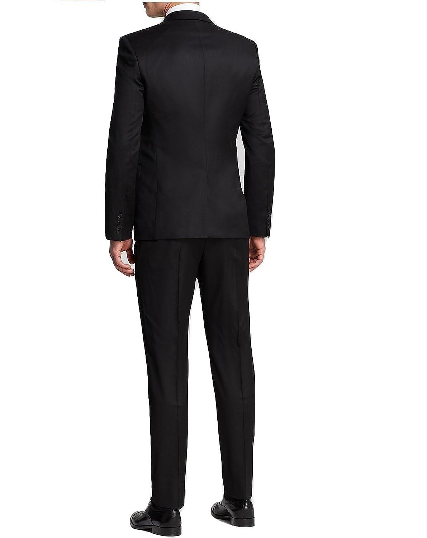Hugo Boss Aeron 2 Hamen 2 Navy Solid 2 Button Flat Front New Men's Suit Set
