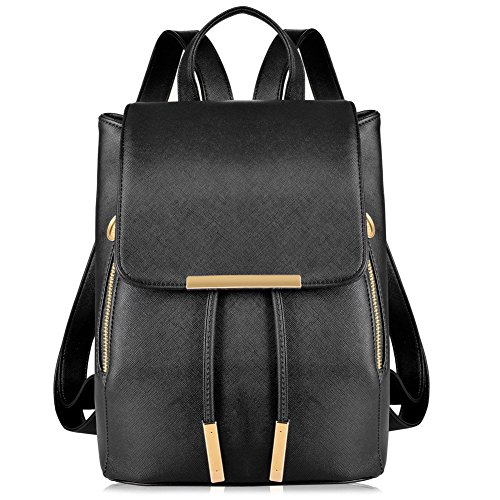 Vbiger Backpack Shoulder Handbag Stylish Lovely for Women (Black)