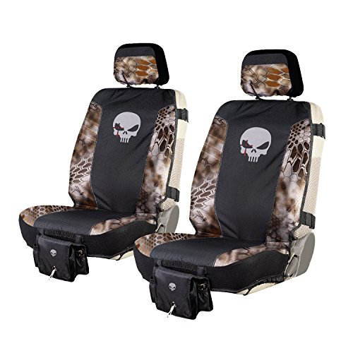 Gear Seat Covers - Chris Kyle Tactical Low Back Seat Cover, Premium Fit, Kryptek Banshee Camo, Includes 2 Camo Seat Covers