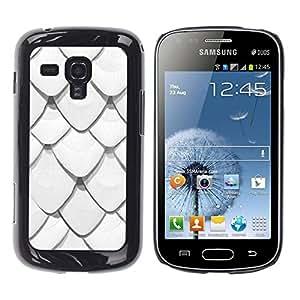 FECELL CITY // Duro Aluminio Pegatina PC Caso decorativo Funda Carcasa de Protección para Samsung Galaxy S Duos S7562 // Scale Pattern Roof Minimalist Fish