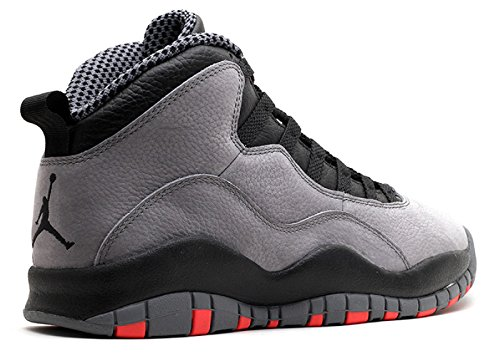 Nike Herren Air Jordan Retro 10 Basketballschuhe, Grau Cool Grey, Infrarood-zwart