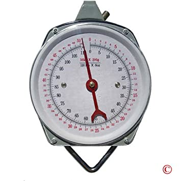 Hanging Spring Kitchen Dial Scale By Pit Bull