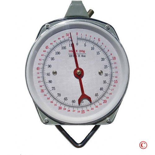1 X 110 lb. Hanging Spring Kitchen Dial Scale by Pit (Mechanical Hanging Dial Scale)