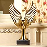 Ornaments Sculptures Modern Ceramic Vase Decoration Ornaments Crafts Home Living Room Tv Cabinet Decoration Office Porch European Wine Cabinet Display New Home Wedding Gift Gold Edge Vase + Rose Vase (Giving 2 Cosmos + 3 Bunches Of Dragon Gras