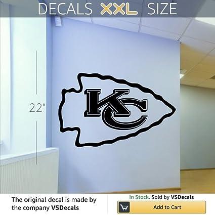 Amazon.com: Kansas City Chief Logo Emblem NFL Wall Art Sticker Decal ...