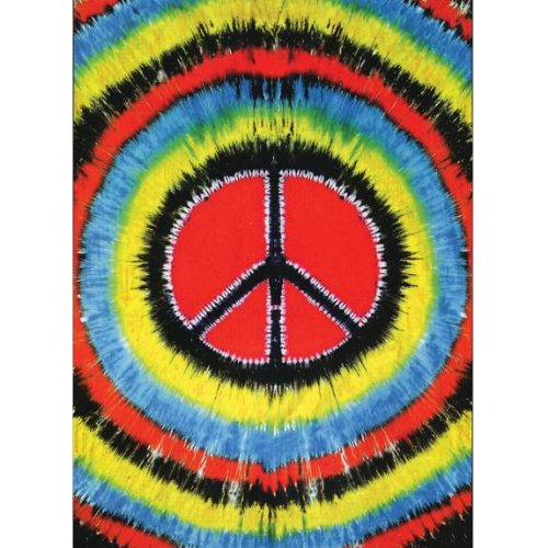 Tie Dye Peace Sign Tapestry Peace Sign Tapestries