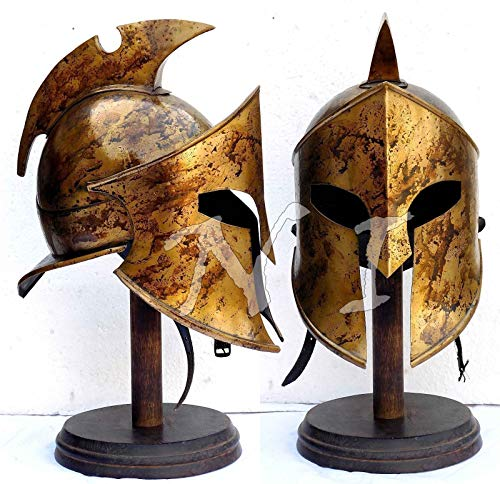 QUALITYMUSICSHOP Armor Helmet King Leonidas Helmet Spartan Roman 300 Costum -