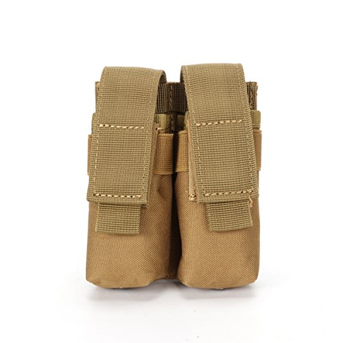 Nehostertfy Tactical Double Pistol Magazine Pouch Mag Holder