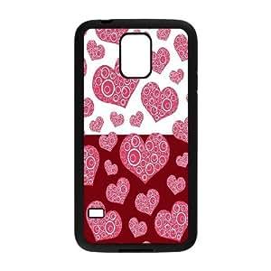 Vety Spiral Heart Pattern Samsung Galaxy S5 Cases, {Black}