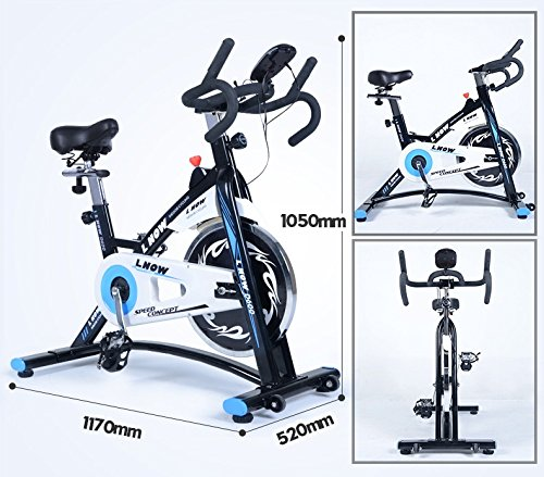 L NOW Indoor Cycling Bike Stationary Exercise Bike Quiet and Smooth with Tablet Holder (D6001) by L NOW (Image #6)