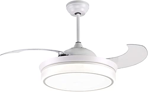 reiga 44-inch White Modern Ceiling Fan Retractable Blade