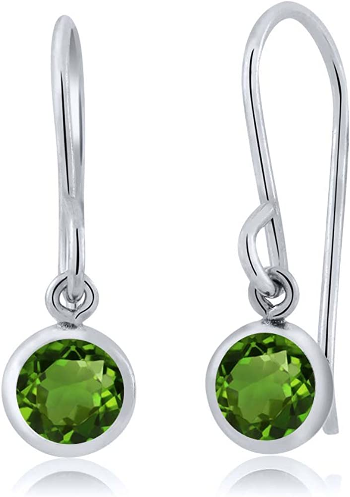 Chrome Diopside Bracelet and Hill Tribe Silver Sterling Silver Flower Charm Artisan Jewelry Chrome Diopside Jewelry