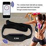 Wireless Bluetooth 4.0 Heart Rate Monitor Cardio Sport Meter Chest Strap Belt Calories and Fat Calculation For iPhone/Android