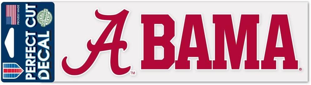 WinCraft NCAA University of Alabama WCR35443014 Perfect Cut Decals 3 x 10