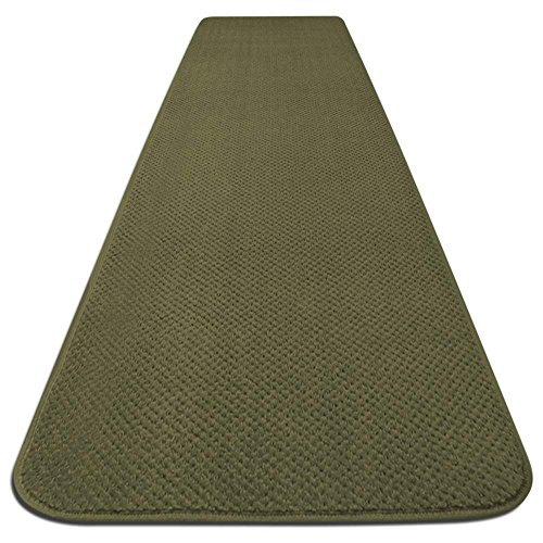- House, Home and More Skid-resistant Carpet Runner - Olive Green - 4 Ft. X 36 In. - Many Other Sizes to Choose From