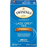 Twinings Decaf Black Tea, Lady Grey, 20 Count Bagged Tea (6 Pack) by Twinings