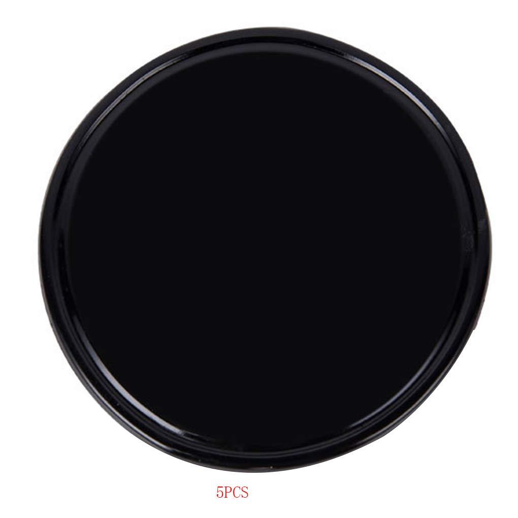 Kineca 5psc Voiture Noire Intérieur Anti Skiding Round Mat Instrument téLéPhoNe Tapis Haut-parleurs Portables Coins Berceau