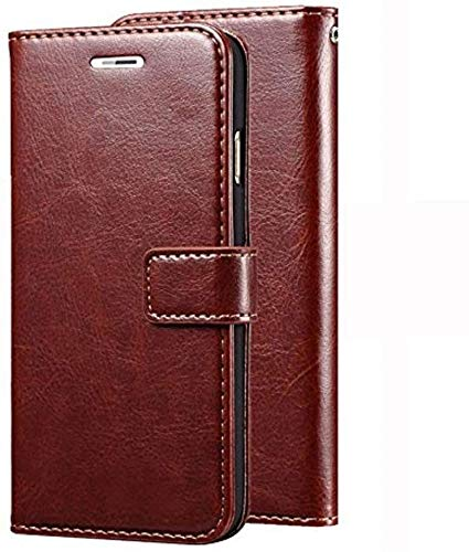 Finaux Vintage Flip Cover Leather Case : Inner TPU, Leather Wallet Stand for Oppo Neo 7   Brown