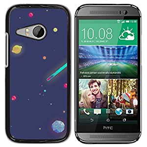 Planetar® ( Cartooned Planetary Bodies ) HTC ONE MINI 2 / M8 MINI Fundas Cover Cubre Hard Case Cover