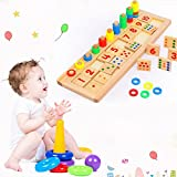 Sealive Baby Early Educational Toys ,Montessori Materials Kids Gift Wood Math Blocks Shape Sorter Knob Puzzle Learning & Education Cognitive Math Toys