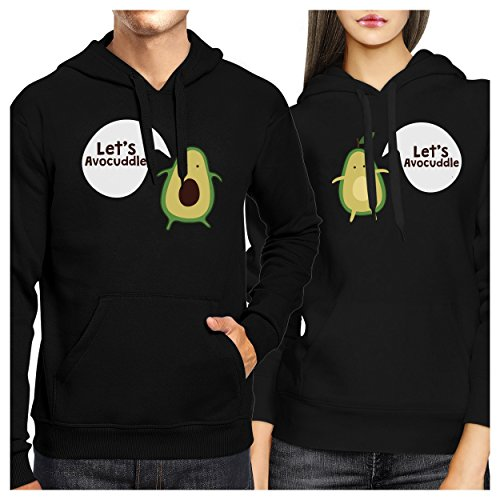 365 Printing Let's Avocuddle Couple Hoodies His And Hers Matching Holiday Gifts by 365 In Love